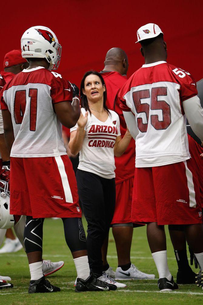 Jennifer Welter à l'entraînement
