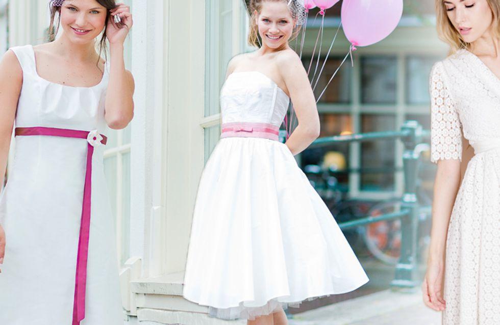 Nicht nur für freche Bräute: Kurze Brautkleider zum Verlieben