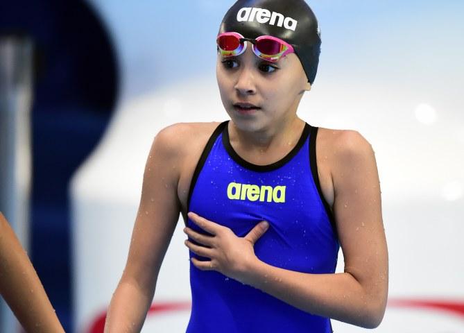 Alzain Tareq, la plus jeune nageuse