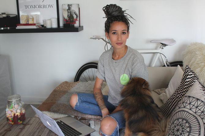 Alex et son chien Yoshi