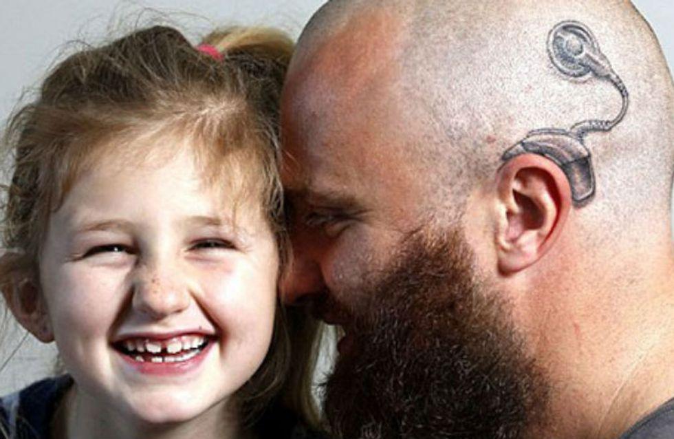 Amor acima de tudo: pais fazem tatuagens para dar apoio aos filhos