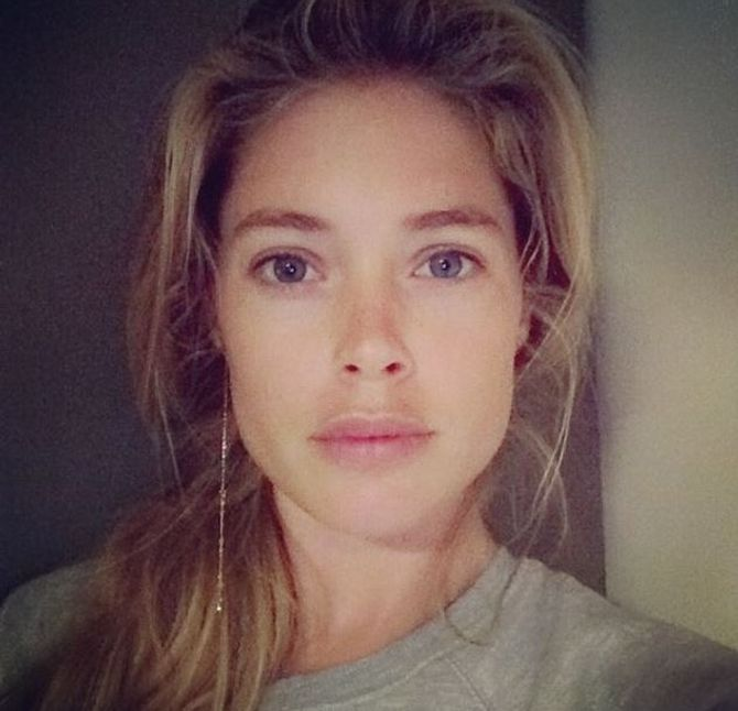 Doutzen Kroes sans maquillage.