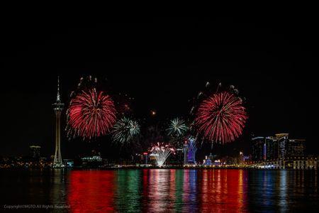 Lumières sur les feux d'artifices de Macao