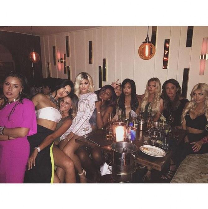 Kylie Jenner et ses invités.