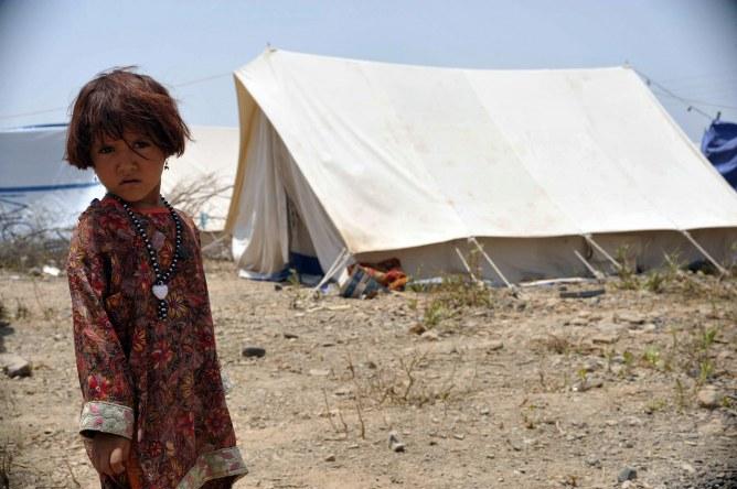 Un enfant au Pakistan.