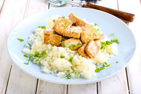 Tofu y coliflor