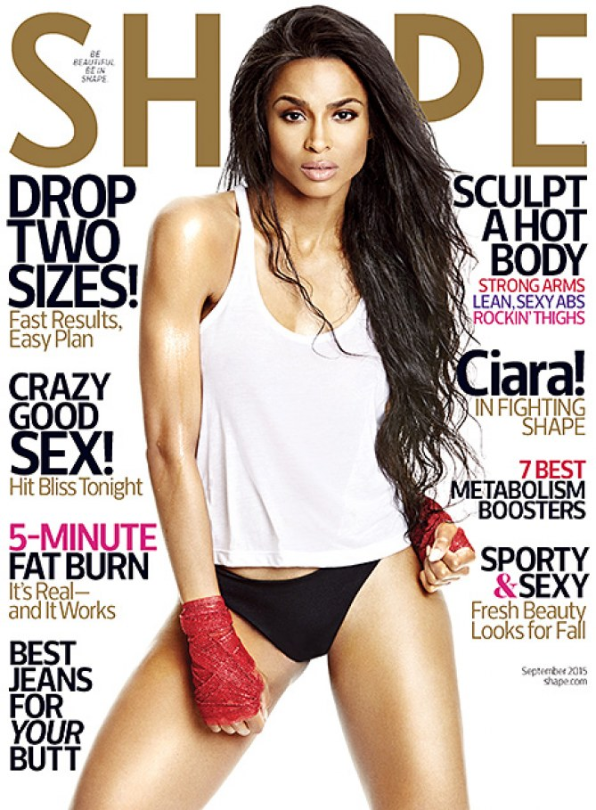 Ciara pour le magazine Shape.