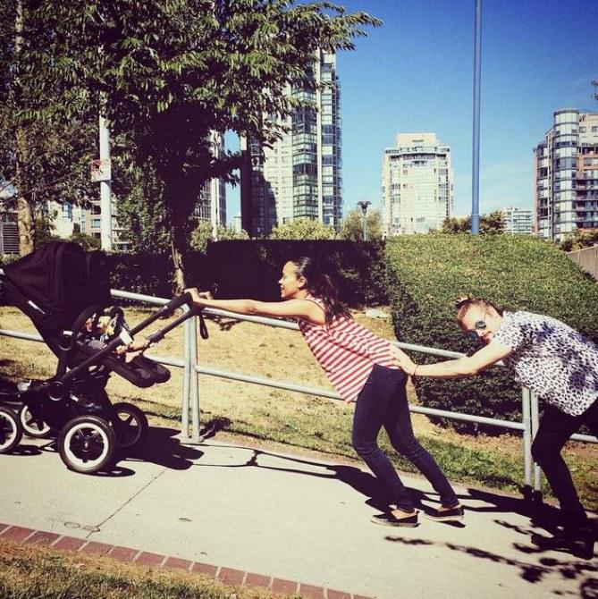 Zoe Saldana en famille