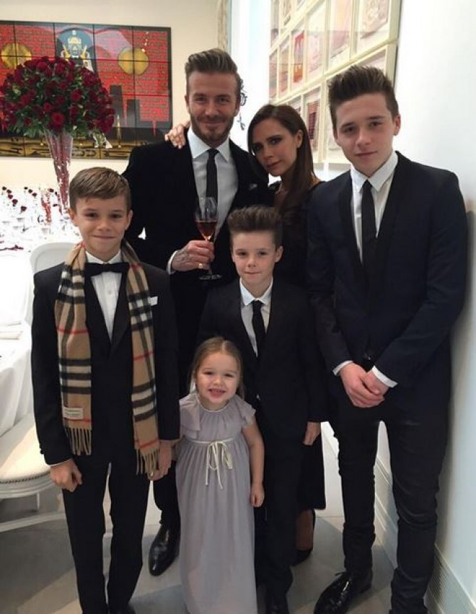 David Beckham et sa famille
