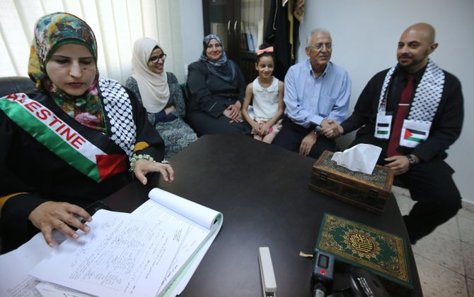 Tahrir Hamad, première femme à célébrer un mariage en Palestine