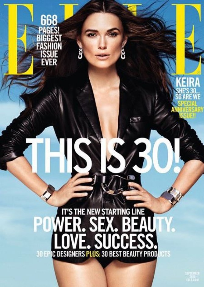 Keira Knightley en couverture du Elle USA