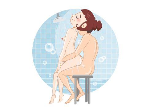 In sex der dusche stellungen Sex in
