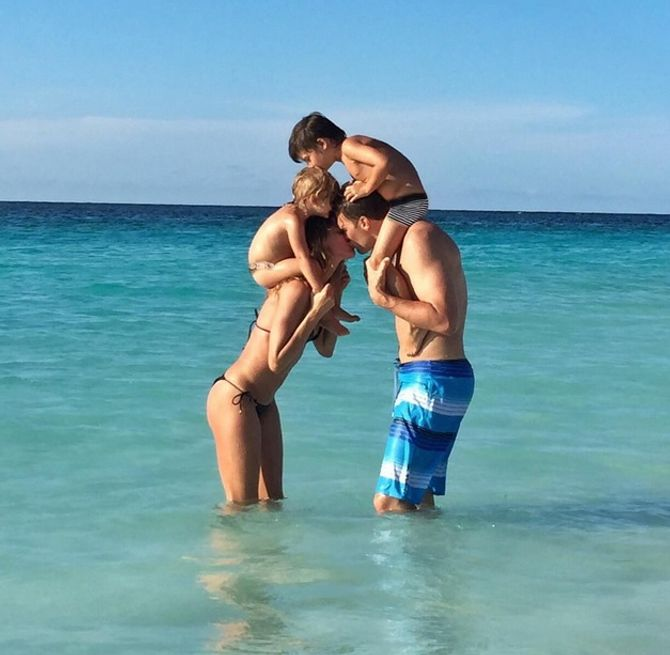 Gisele Bündchen, Tom Brady et leurs enfants