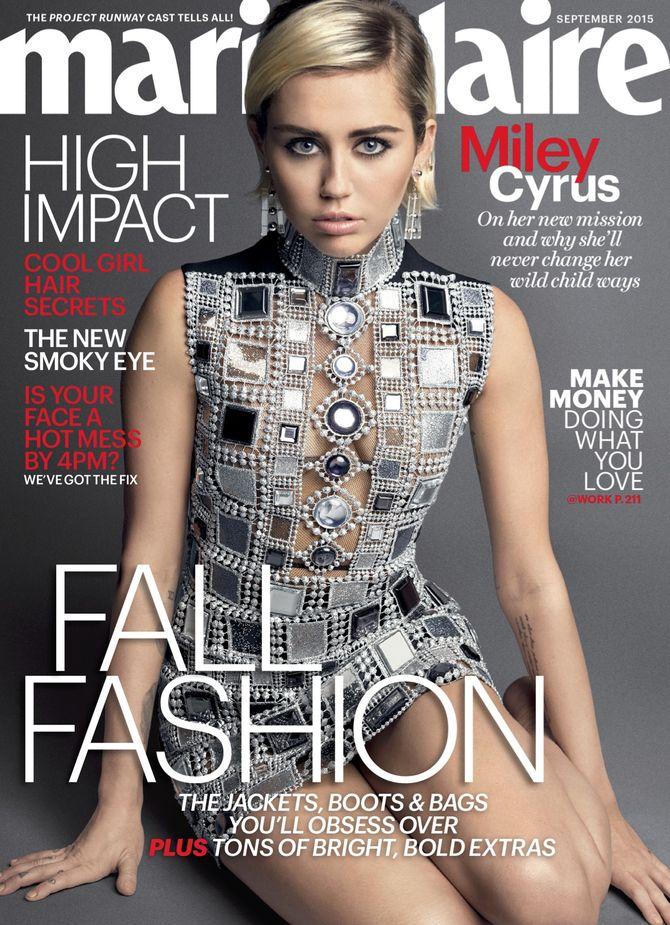 Miley Cyrus en couverture de Marie Claire