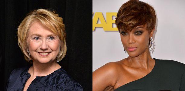 Hillary Clinton et Tyra Banks