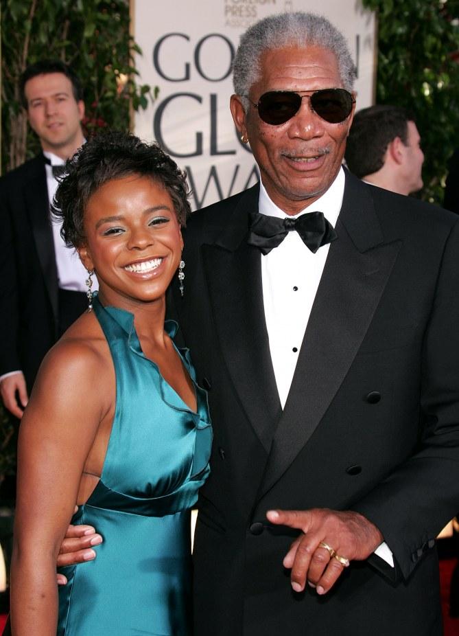 Morgan Freeman et E'Dena Hines en 2005