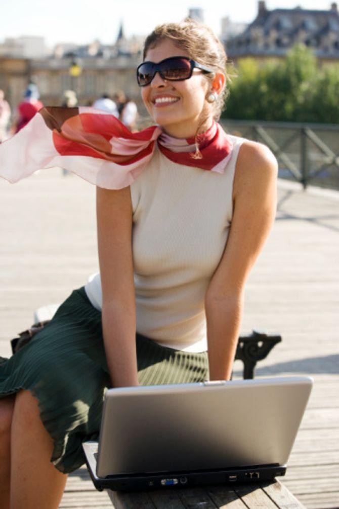 Femme entrepreneuse à Paris