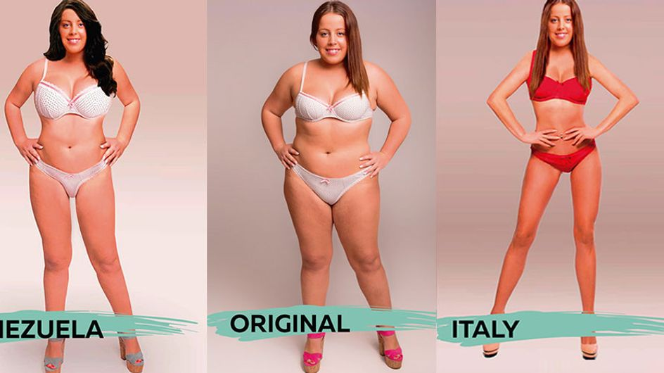 This Woman's Body Was Photoshopped 18 Times To Meet Different Beauty Ideals Around The World
