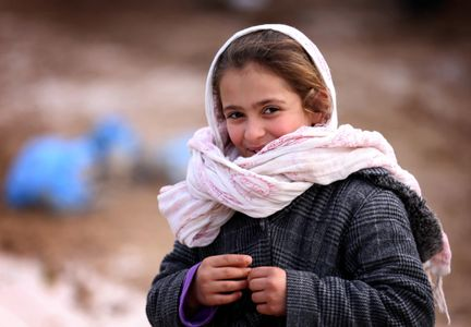Une jeune yézidie dans un camps de réfugiés irakien