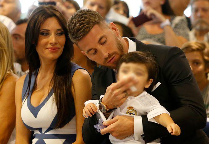 Sergio Ramos, Pilar Rubio y su hijo