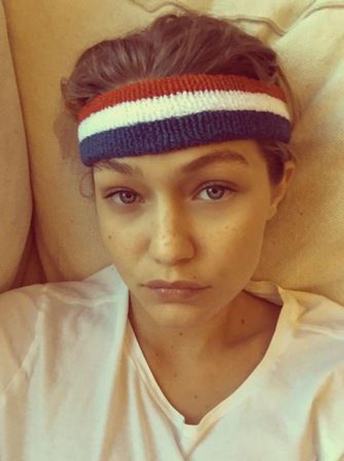 Gigi Hadid sans maquillage.