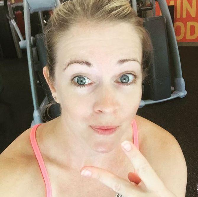 Melissa Joan Hart sans maquillage.