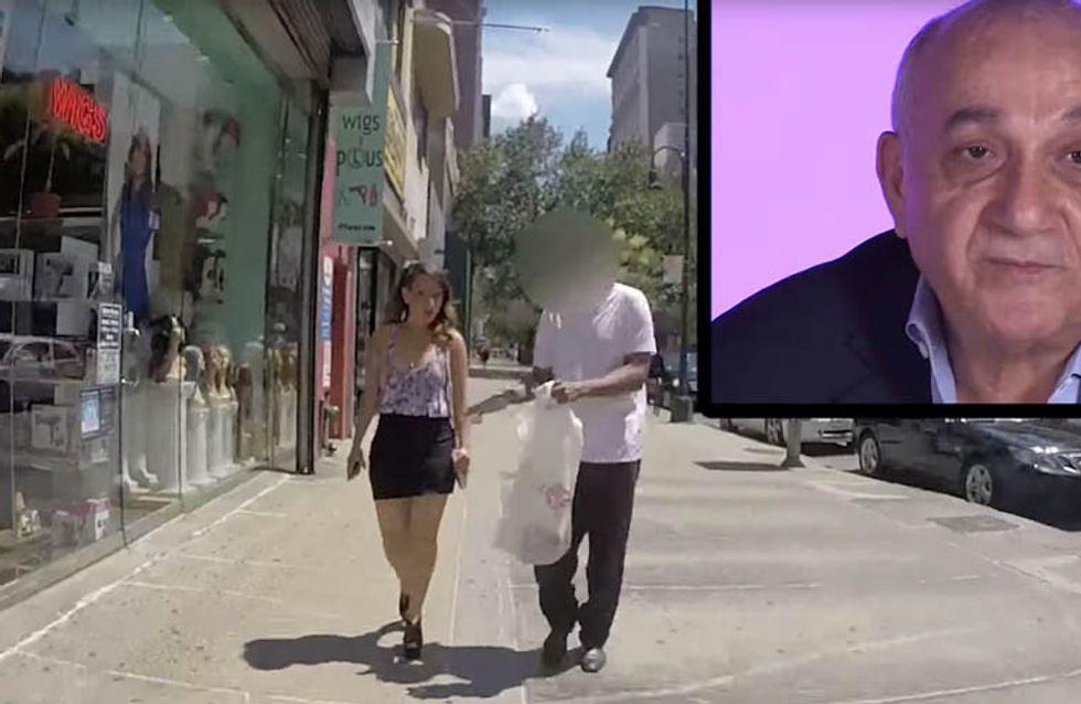 Pais assistem e reagem às cantadas que suas filhas levam nas ruas