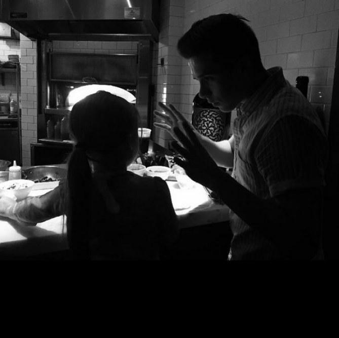 Brooklyn et Harper Beckham