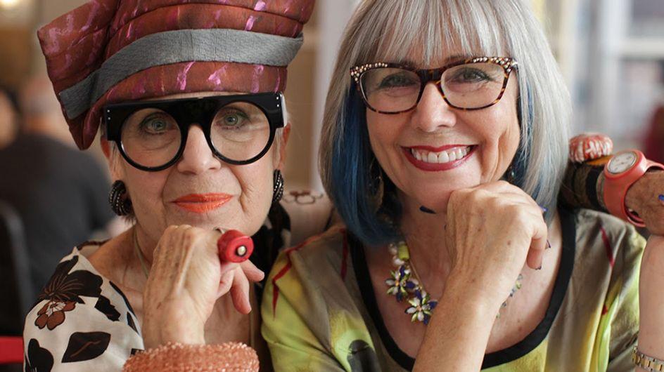 Conheça as senhorinhas puro glam do blog Advanced Style