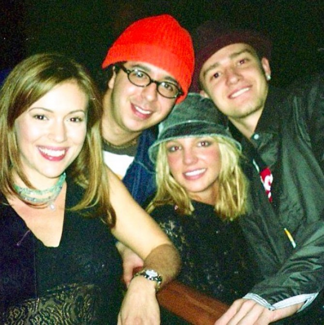 Alyssa Milano, Justin Timberlake et Britney Spears