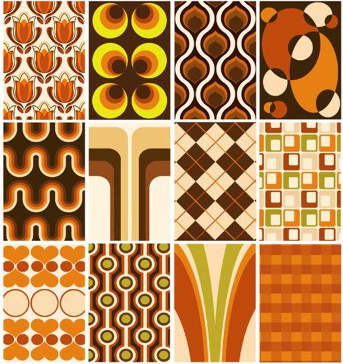 Ob Tapete oder Mode: In den 70ern gaben warme Erdfarben den Ton an