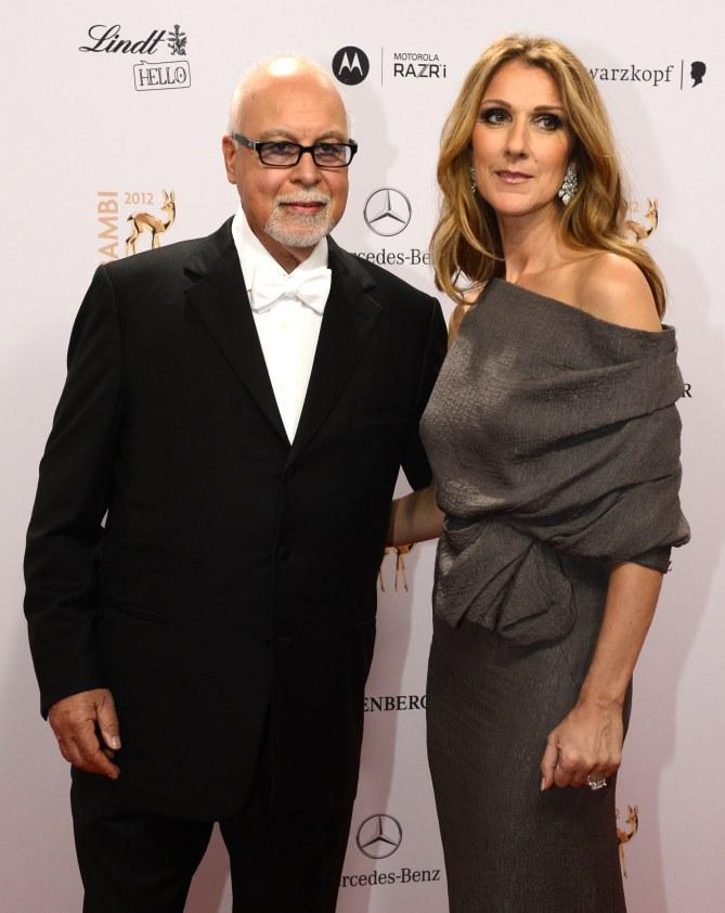 Céline Dion et René Angélil en 2012