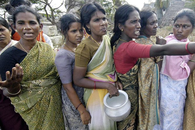 Des femmes indiennes.