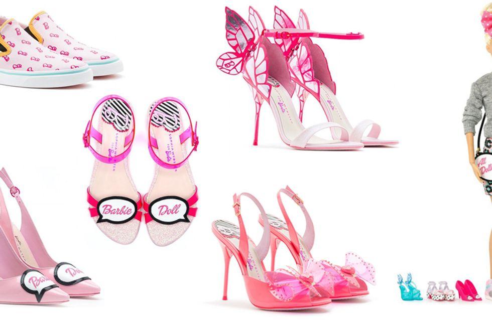 Sophia Webster imagine des chaussures Barbie® pour adultes
