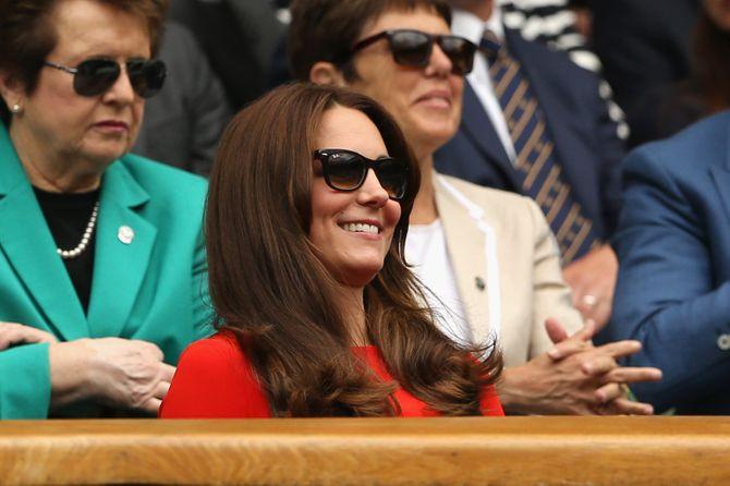 Kat eMiddleton dans les gradins de Wimbledon