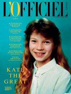 Kate Moss enfant pour L'Officiel Spain