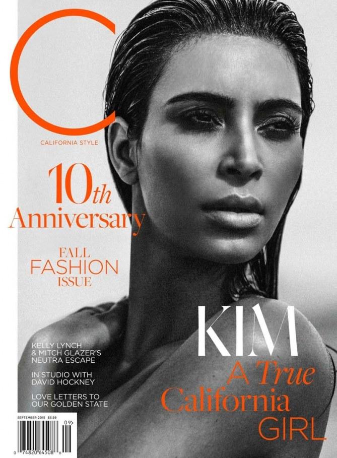 Kim Kardashian pour le C Magazine.