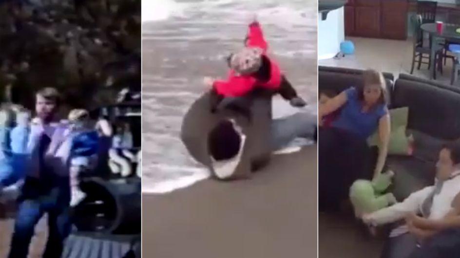 Papas sind die WAHREN Helden: So schnell reagieren Väter, wenn ihre Kinder in Gefahr sind