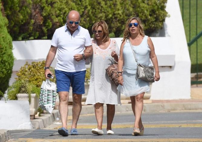 María Teresa Campos y su familia
