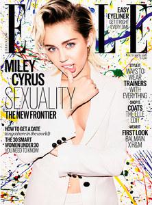 Miley Cyrus pour Elle UK.