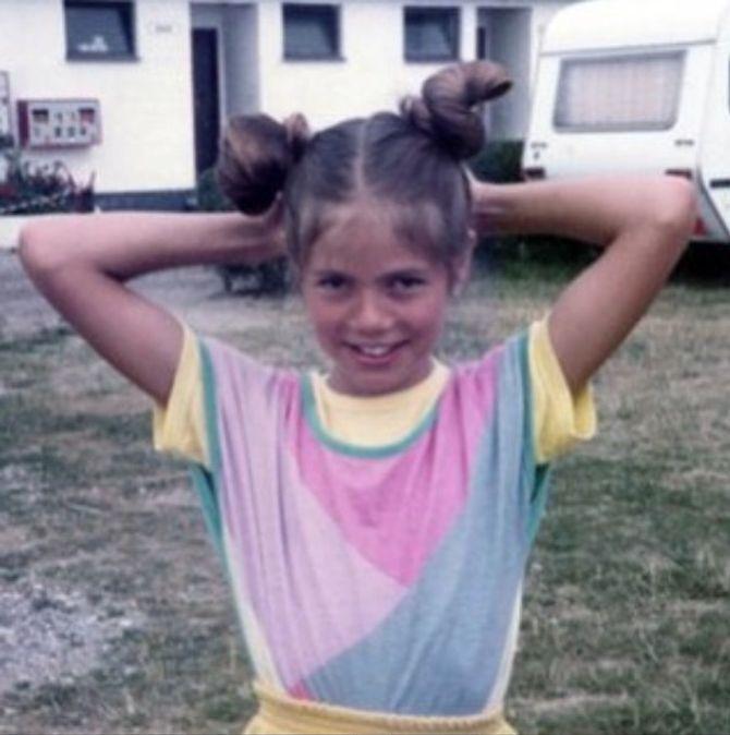 Heidi Klum enfant.