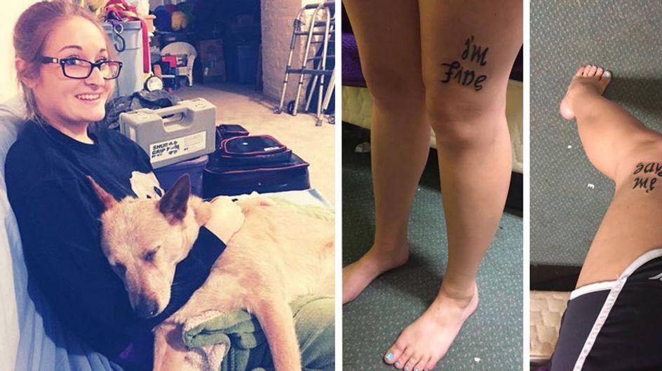 Trauriger Hilferuf: Erkennt ihr, welche versteckte Botschaft sich in diesem Tattoo verbirgt?