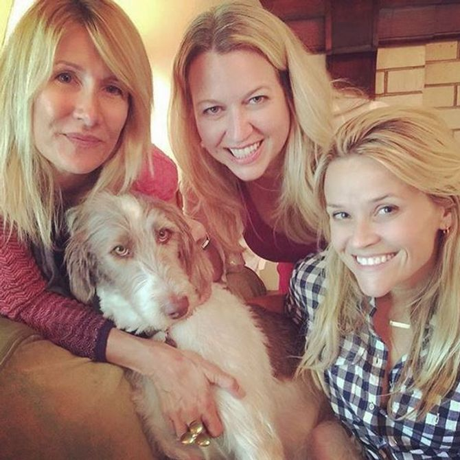 Reese Witherspoon sans maquillage avec Laura Dern et de Cheryl Strayed.