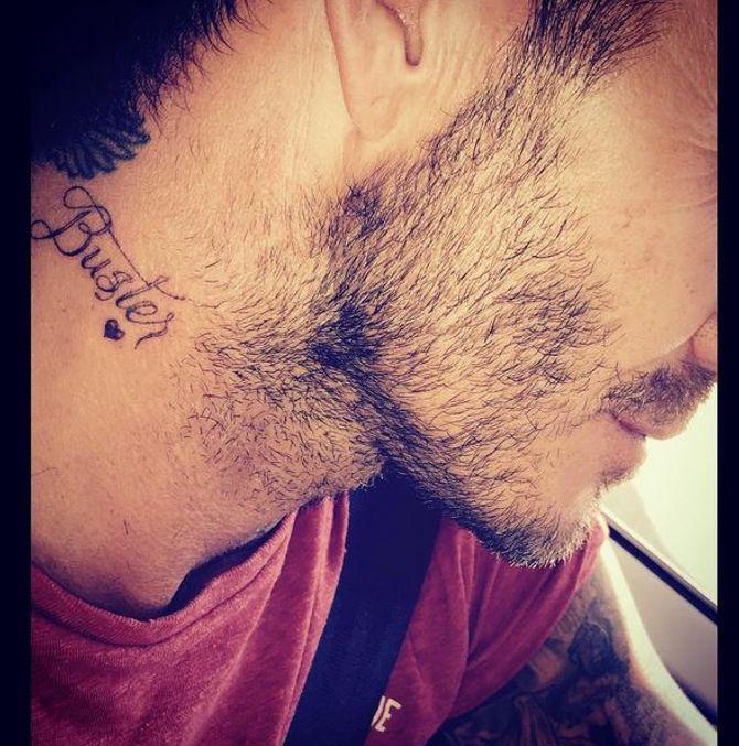 Le tatouage de David Beckham.