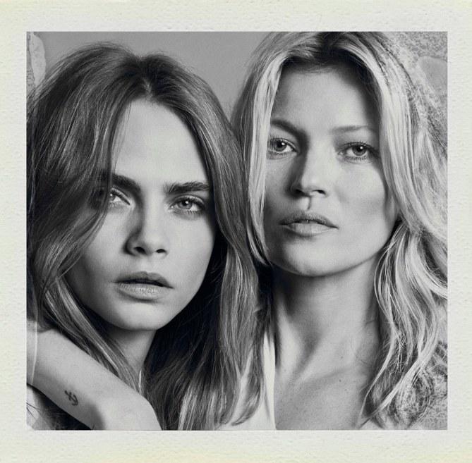 Kate Moss et Cara Delevingne