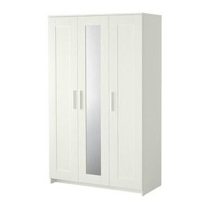 Armario BRIMNES blanco con tres puertas