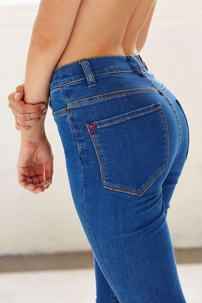 Shaping Jeans sorgen für einen Knackpo