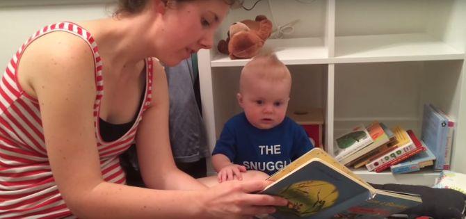 bébé qui pleure que sa maman termine une histoire