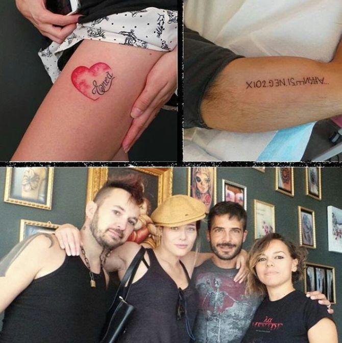 Le foto dei due tatuaggi in onore del piccolo Enea