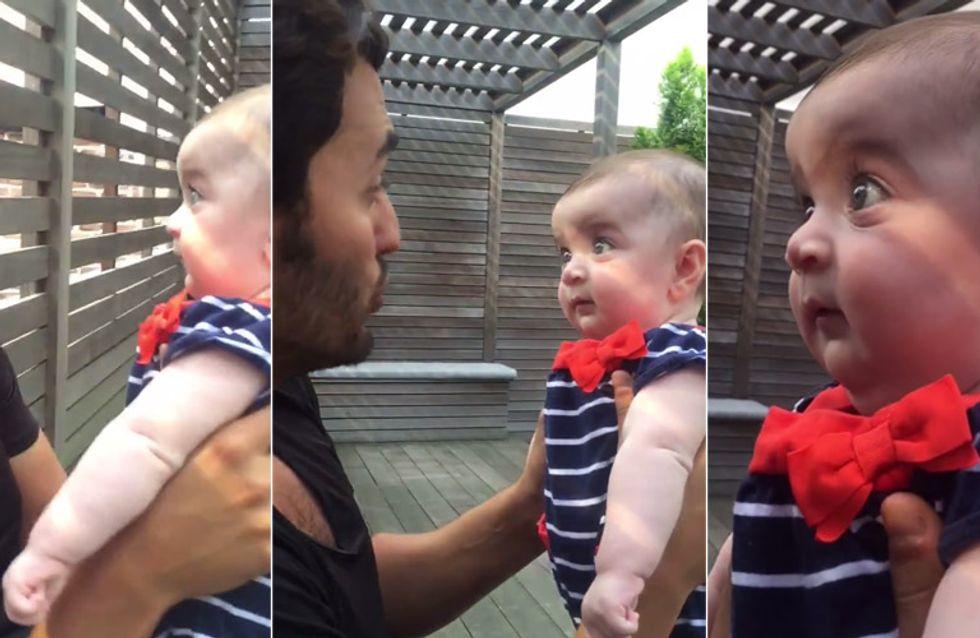 Worauf dieses Baby SO geschockt reagiert, ist einfach nur herrlich
